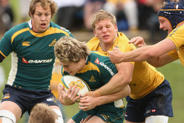 A young Fitzpatrick had a taste of Wallabies training before a succession of injuries curtailed his progress